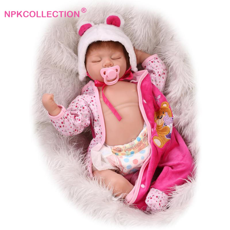 Reborn Baby Doll with Soft Vinyl Belly as Girls Toy Brinquedo Birthday Gift Play Doll 55CM Silicone Reborn Dolls in Soft Clothes 2016 new arrival pregnant doll with mini baby in belly baby alive reborn doll in her tummy happy family for little keri