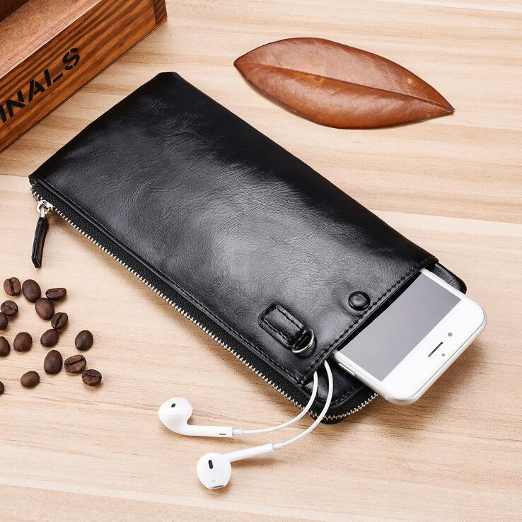 Top Quality Leather 3 Colors Large Cable Organizer Bag Carry Case HDD USB Flash Drive Memory Card Phone Power Bank Pouch Wallet