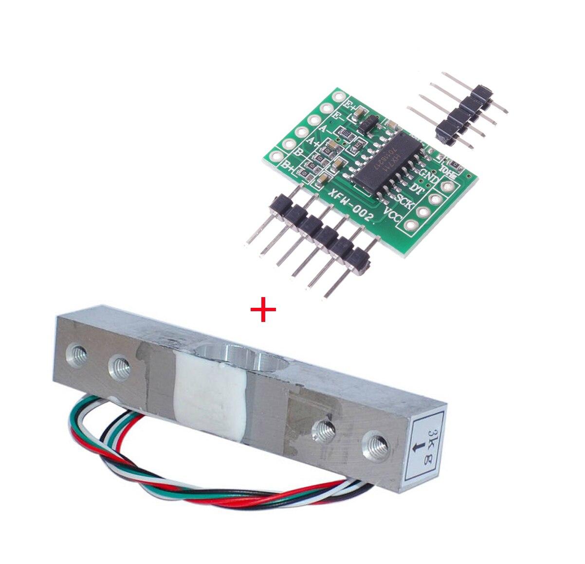 Aihasd 100kg Cellule de Charge Balance /électronique de Cuisine Capteur de Pesage pour HX711 AD Module pour Arduino pour Raspberry Pi