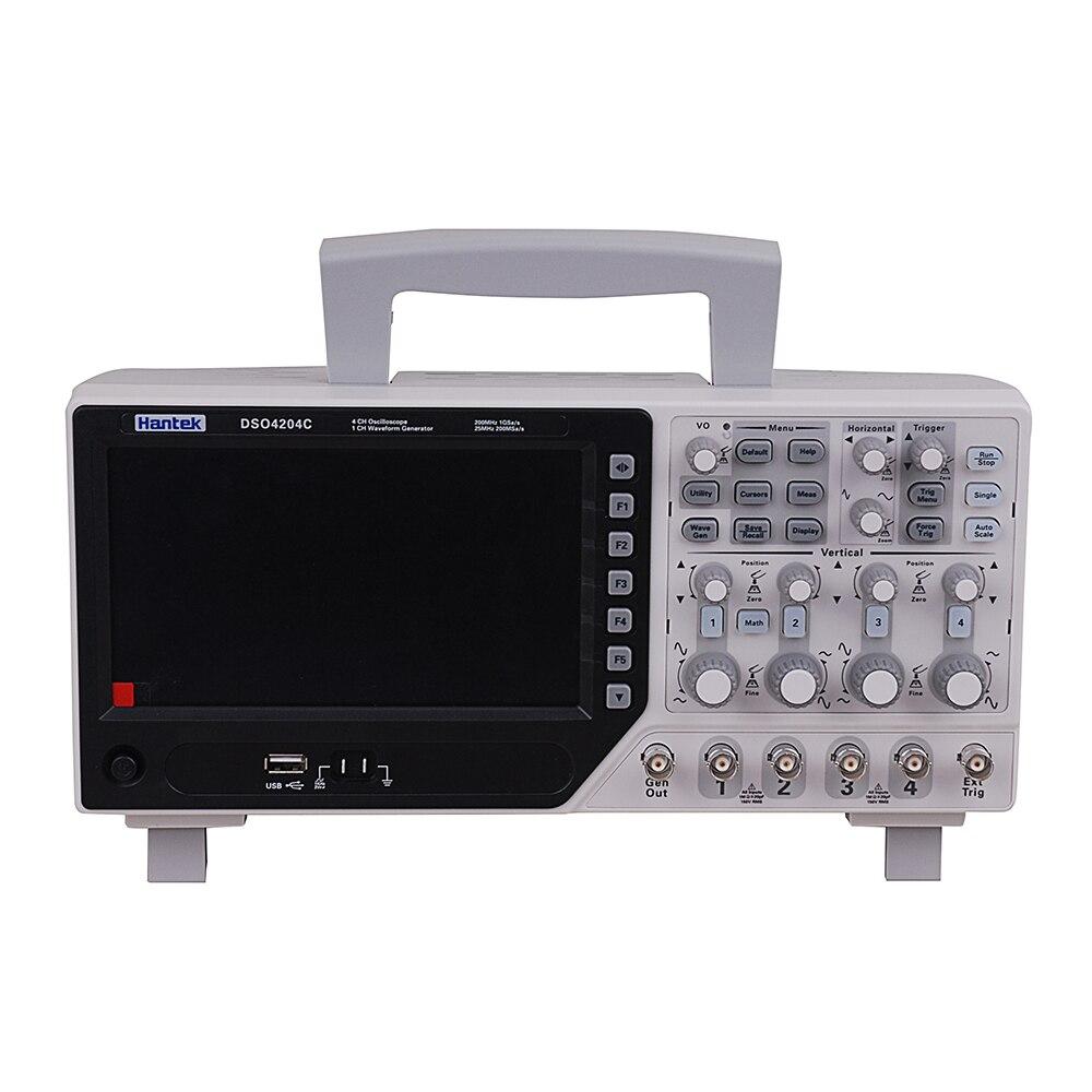 Hantek DSO4204C 4CH 1GS s 80 250 MHz 4 Channels 1CH Arbitary Function Waveform Generator Oscilloscope