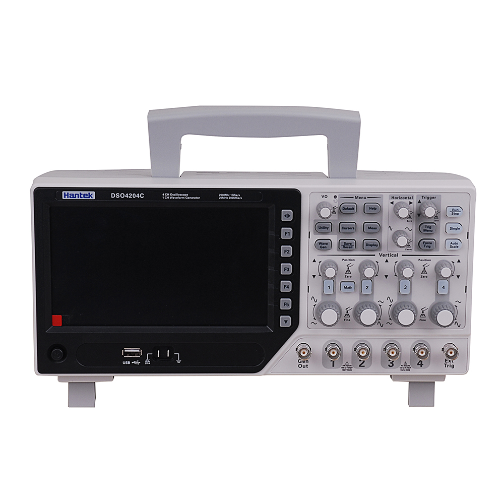 Hantek DSO4204C 4CH 1GS/s 80 250 MHz 4 Channels 1CH Arbitary/Function Waveform Generator Oscilloscope DE shipping-in Oscilloscopes from Tools    1