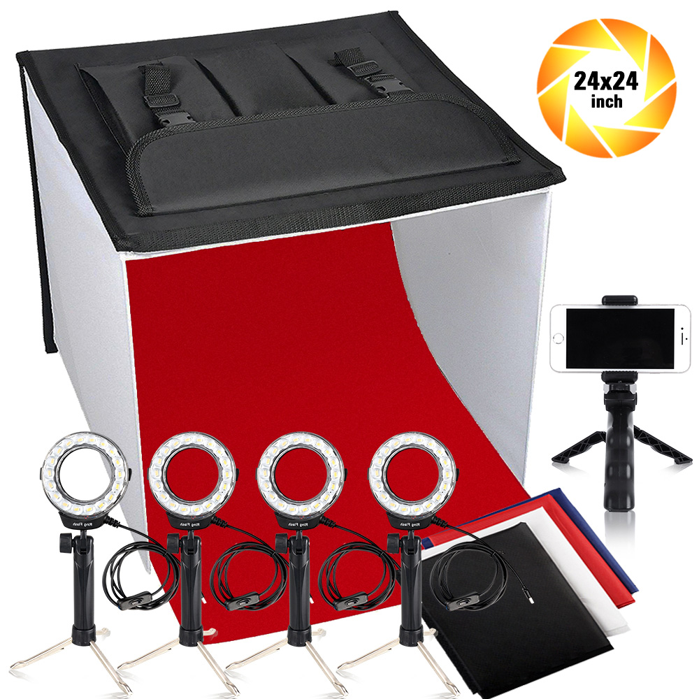 Travor K60II LED Faltbare Foto Studio Licht Box Faltbaren Tisch Fotografie Schießen Zelt CRI 95 3200 karat 5500 karat 9000 karat leuchtkasten