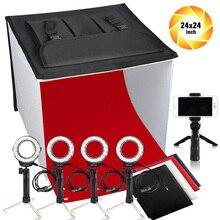 Travor K60II LED Opvouwbare Photo Studio Light Box Opvouwbare Tafel Top Fotografie Schieten Tent CRI 95 3200K 5500K 9000K lightbox