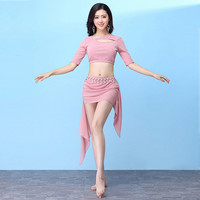 Sexy Modal Mesh Eastern Oriental Belly Dance Costume Short Skirt for Women Belly Dancing Clothes Bellydance Indian Clothing Wear
