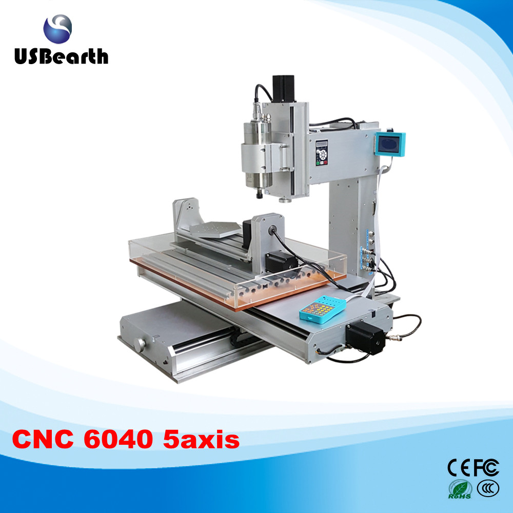 Russia no tax!High performance 5 axis wood carving machine 6040 cnc milling machine 5 axis cnc router 6040 no tax to russia 4 axis cnc engraving machine 6040 300w cnc router cnc lathe with rotary axis for wood carving can do 3d
