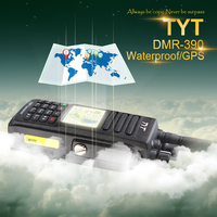 Free Shipping GPS Version Waterproof IP 67 DMR Walkie Talkie MD 390 with 2200Mah Battery, Headset and Programming Cabe