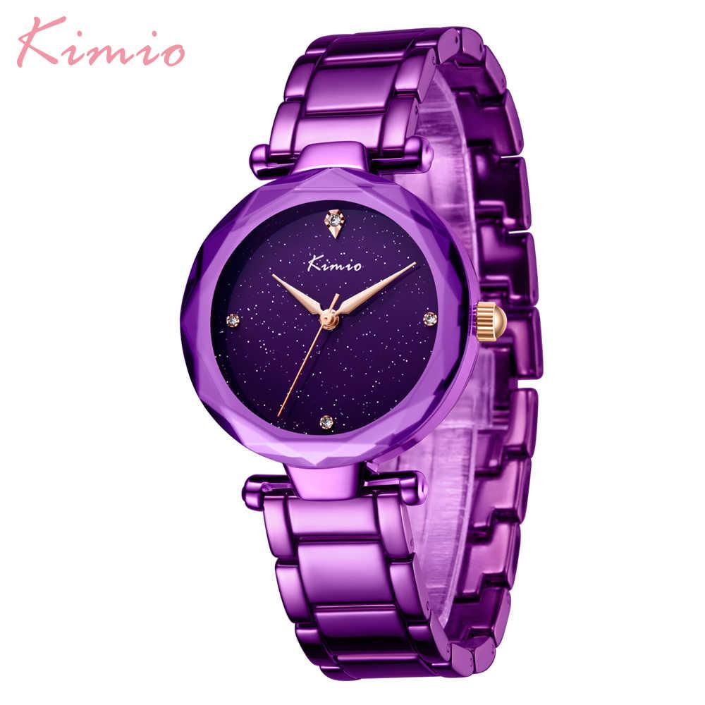 KIMIO эксклюзивный бренд модные повседневные женские часы водонепроницаемый ремешок из нержавеющей стали 5 модных цветов кварцевые наручные часы relogio feminino