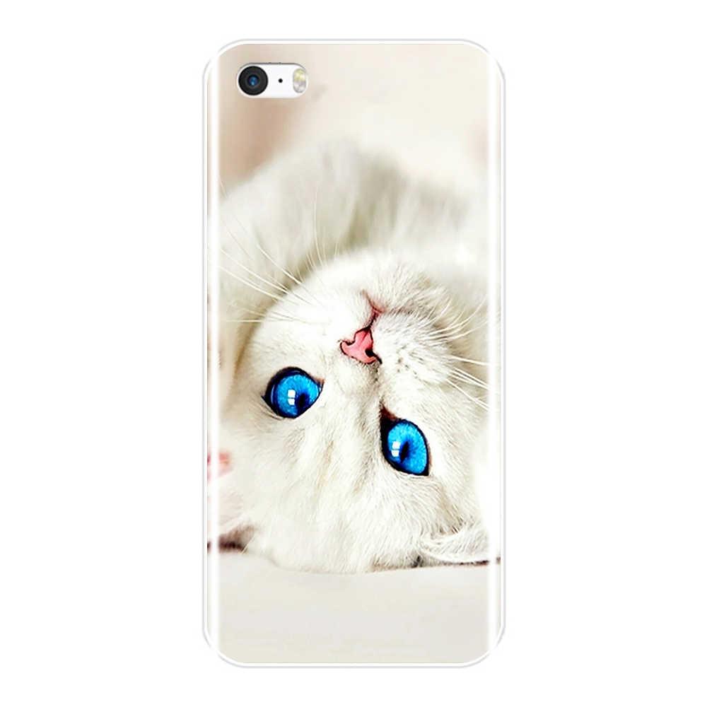 Telefoon Case Voor iPhone SE 5 S 5 S 5C Zachte Siliconen TPU Ultra Dunne Leuke Bloem Bloemen Back Cover voor iPhone 4 S 4 S Case