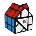 2016 A Estrenar Dayan Bermudas House Cubo Mágico Cubo Negro Speed Cubo Mágico Rojo y Verde Techo Cubos Del Rompecabezas Para Niños Juguetes Educativos
