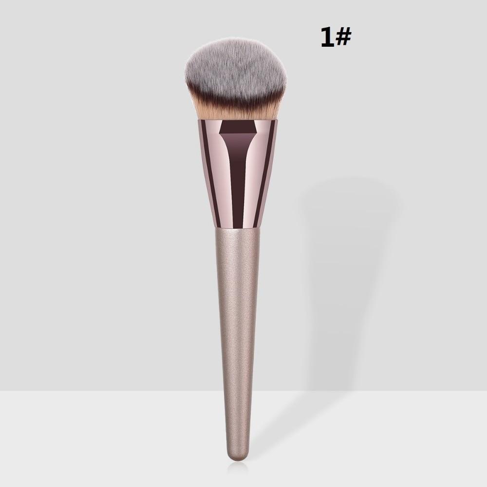Rose Gold Powder Blush Makeup Brushes For Shading Foundation Base Contour Highlighter Make Up Brush Bronzer Concealer Cosmetic #4