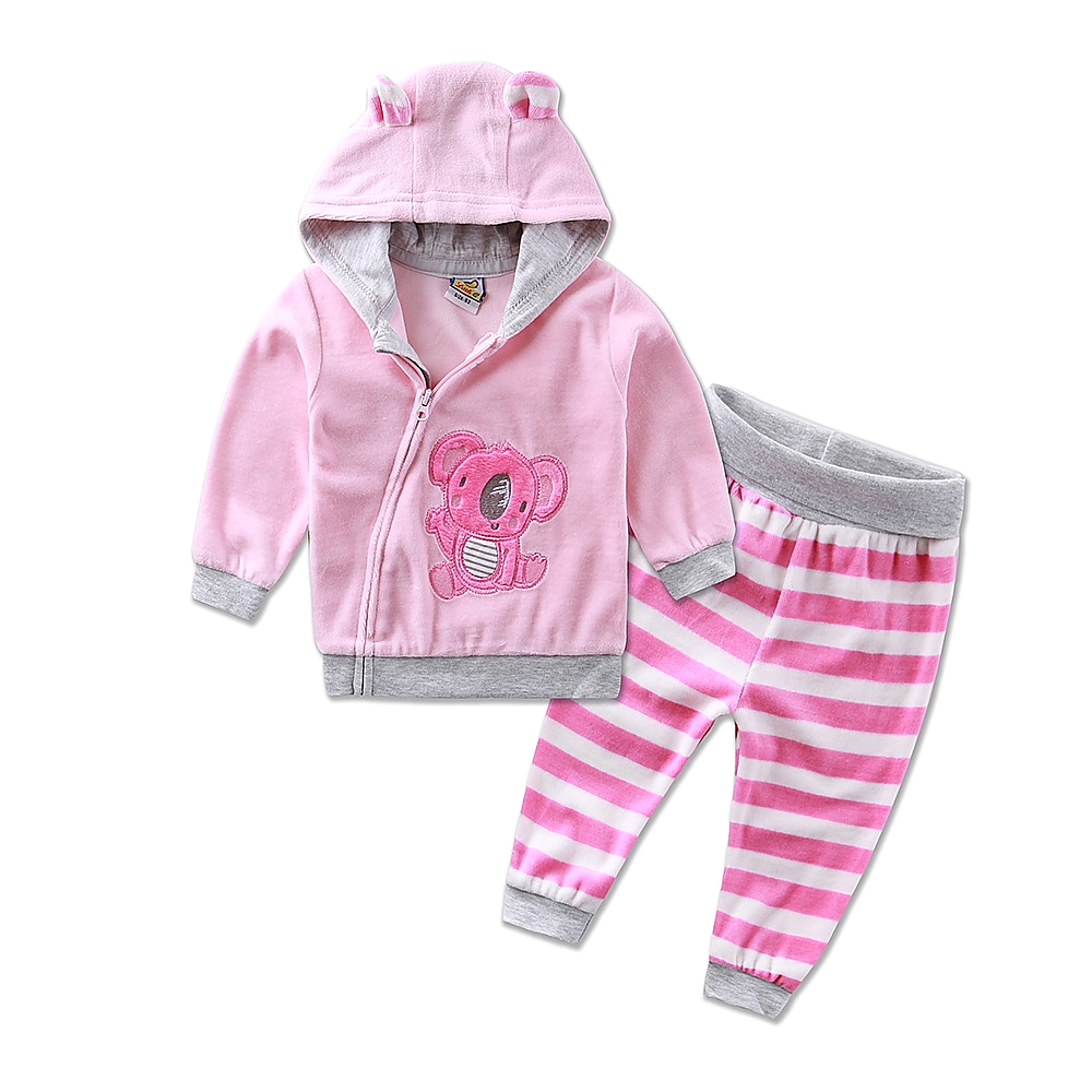 Image 4 - 2019 new hot children sports girls boys set velvet casual winter spring warm hooded zipper long sleeve outfits baby kid clothes-in Clothing Sets from Mother & Kids