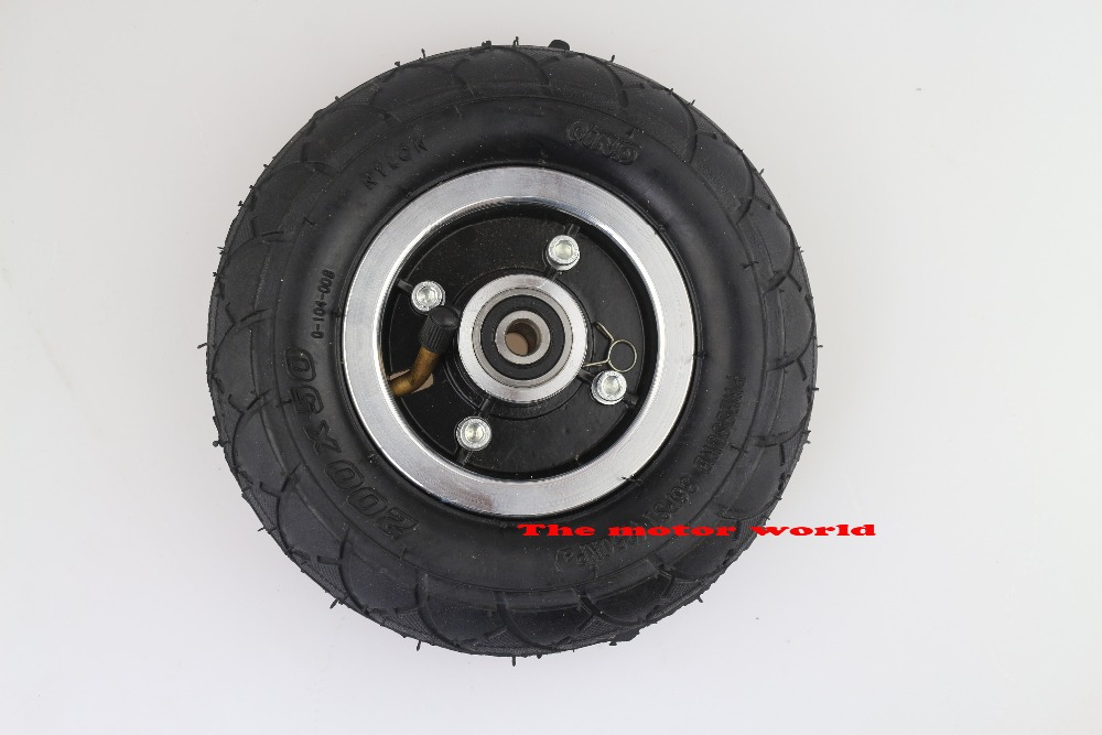 """Electric Scooter Tyre With Wheel Hub 8"""" Scooter 200x50"""