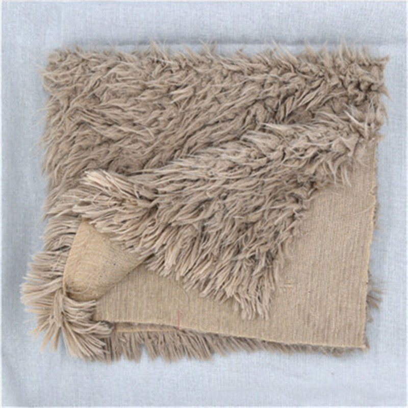 50 * 50cm Faux Fur Blanket Newborn Infant Baby Soft Rug