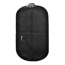 Black Dust Cover with Zipper for Portable Travel Business Mens Garment Clothes Suit Jacket Storage Protection Foldable LO004(China)