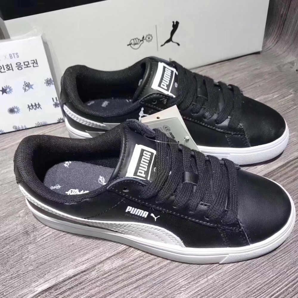 Оригинальный 2018 BTS x Puma коллаборации Puma Court Star Корея курсант  обувь мужские кроссовки бадминтон обувь 9a586693585