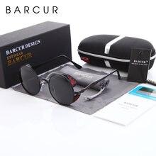 Мужские и женские солнцезащитные очки barcur круглые дизайнерские