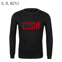 2018 Brand New Men And Women Casual Marvel Print Hedging Hooded Fleece Sweatshirt Hoodies Pullover Clothing