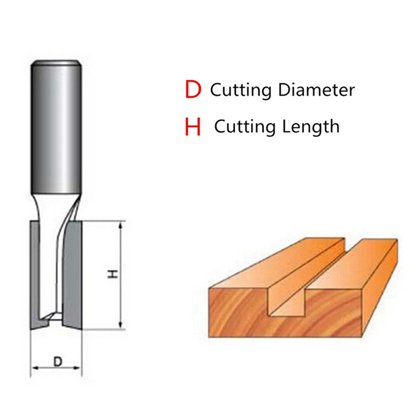 """Image 3 - New 1pcs 1/4"""" / 6.35mm Shank Flush Trim Router Bit Shank Bearing Woodworking Milling Cutter For Wooden Worker Trimming Knife-in Milling Cutter from Tools"""