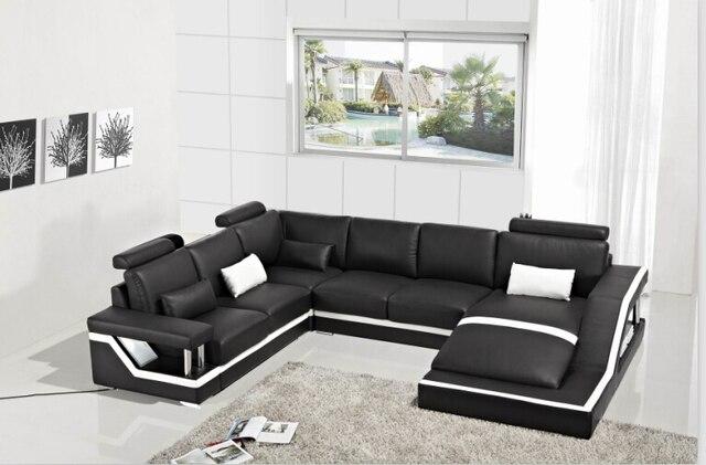 Divani angolari in pelle con vera pelle divano componibile moderno ...