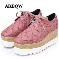 Spring And Summer Large Size Wedges Heels Low Help Lace High Heels Muffled Thick Bottom Casual