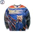 Mr.1991 New Spring Autumn big kids sweatshirt girl Hand Painted kitten 3D printed  hoodies girls jogger sportwear teens boys W32