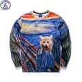 Mr.1991 Nova Primavera Outono grandes crianças camisola menina Pintados À Mão gatinho 3D impresso hoodies meninas adolescentes meninos jogger sportwear W32