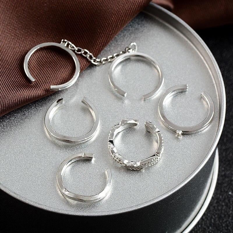MISANANRYNE, 6 шт./лот, модные ювелирные изделия, регулируемые, золотистого цвета, складные, на палец миди, открытые кольца, наборы для женщин, ювели...