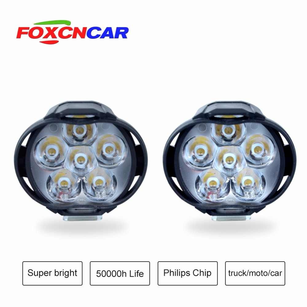 LED motorcycle Fog light Auxiliary light 1000LM COB Chip Strong penetrability 8W 12V 24V For motorcycle truck car SUV Moped