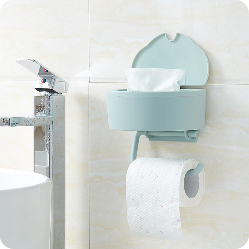 Bathroom Towel Roll Paper Holder Kitchen Napkins Bathroom Wall Pylons Covered Wet Paper Towel
