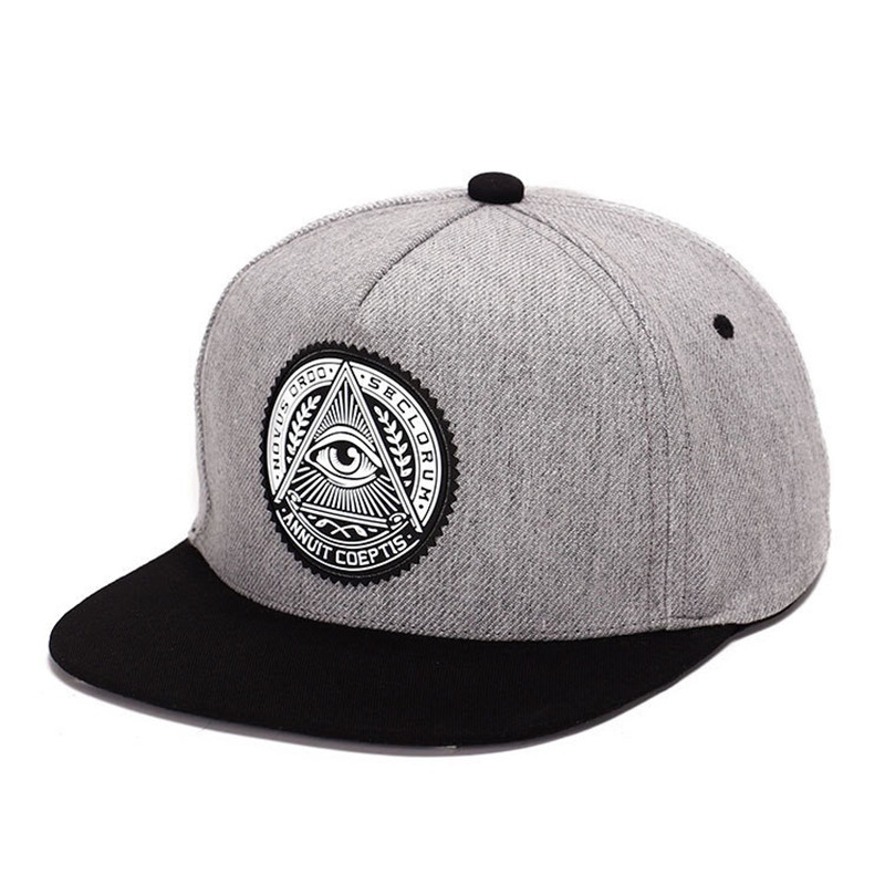 2018 Fashion Round Label Triangle Eye Illuminati Snapback Hats Women Adjustable   Baseball     Cap   Men Snapbacks Hip Hop Hats