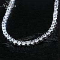 Mytys Luxury Cubic Zircon Tennis Necklace Box Chain Wedding Necklace for Women High Quality Zircon Rhinestone Jewelry Gift CN469
