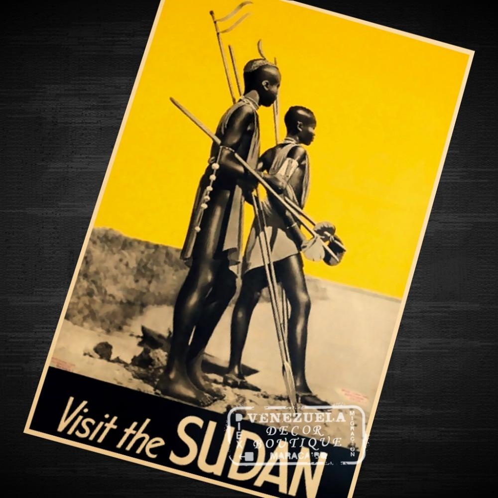 Yellow Visit the Sudan, 1930s Africa Landscape Trip Travel Retro ...