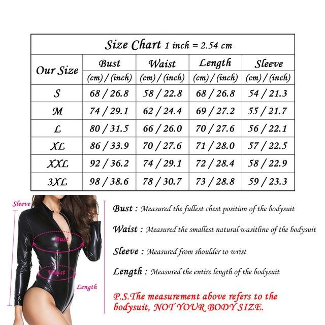 Wet-look Catsuit Gothic Bodysuit 10