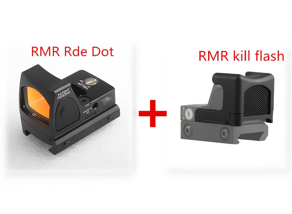 Mini RMR Red Dot Sight Collimator Glock Reflex Sight and Kill Flash fit 20mm Weaver Rail For Airsoft  Hunting Rifle 5-4-2+37-32 hunting holographic ultra mini small rmr red dot sight 20mm weaver rail and mount base for tactical scope