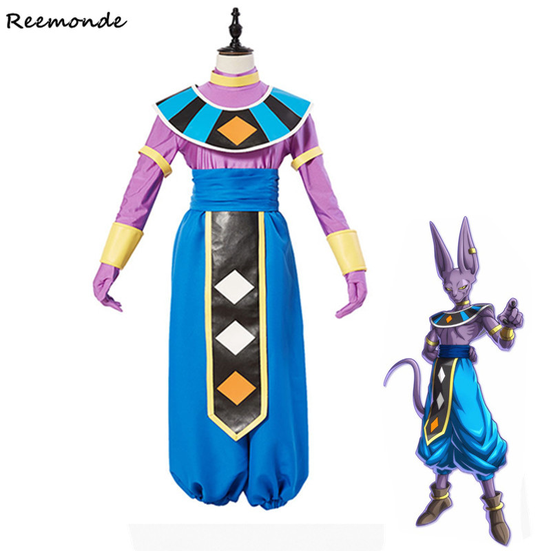Anime Dragon Ball Super Cosplay Costumes Gods of Beerus Top Pants Cloaks For Adult Women Girls Halloween Party Stage Clothing