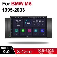 цена на 2 din Android 9.0 Octa Core 4GB RAM Car DVD for BMW M5 1995~2003 GPS Radio BT WIFI Navi MAP Multimedia player system HD screen