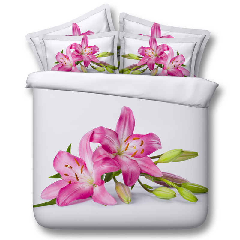 Jf 168 pink lily flower print 3d duvet cover set king size floral jf 168 pink lily flower print 3d duvet cover set king size floral bedding in bedding sets from home garden on aliexpress alibaba group mightylinksfo