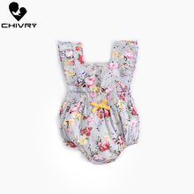 Chivry Baby Girls Bodysuit Summer Sleeveless Bodysuit Bowknot Floral Print Cute Jumpsuit Newborn Baby Playsuit Infant Clothes недорого