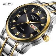WLISHI 2019 Watch Reloj Hombre Fashion Casual Luxury Quartz Dual Display Waterproof Luminous Business Watch Erkek Kol Saati