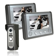7inch wired video phone indoor intercom intercom Electric lockcontrol Building intercom equipment Infrared night vision function