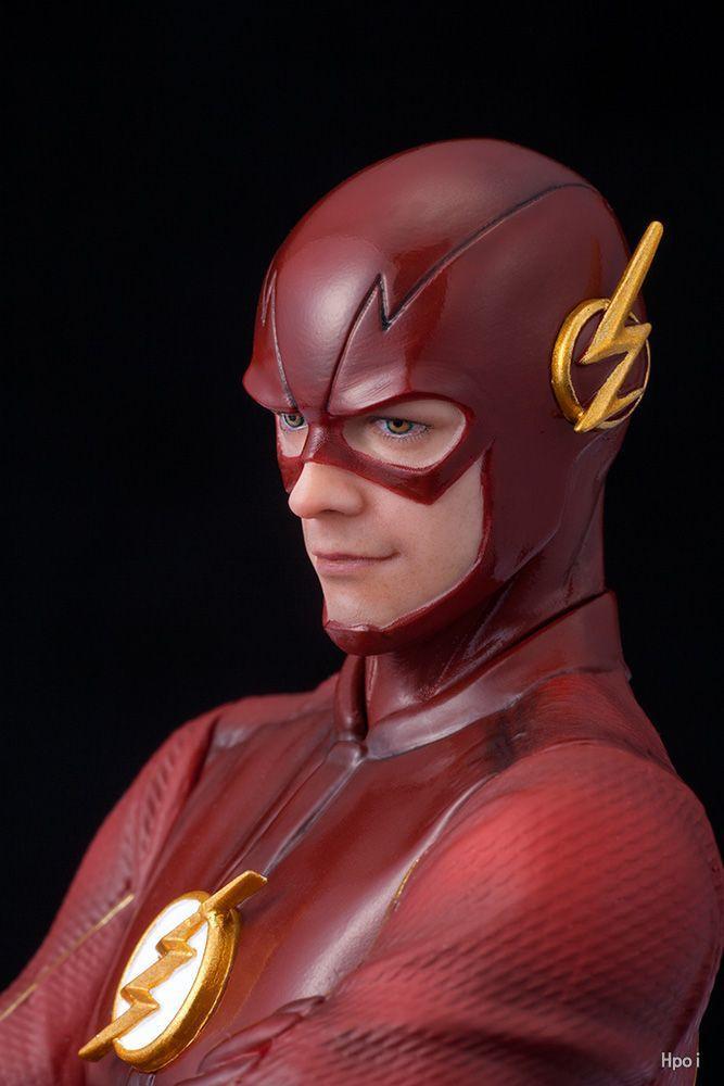 DC COMIC Justice League ARTFX + STATUE The Flash 1:10 Pre Painted Figure Collectible Model Toy 17cm