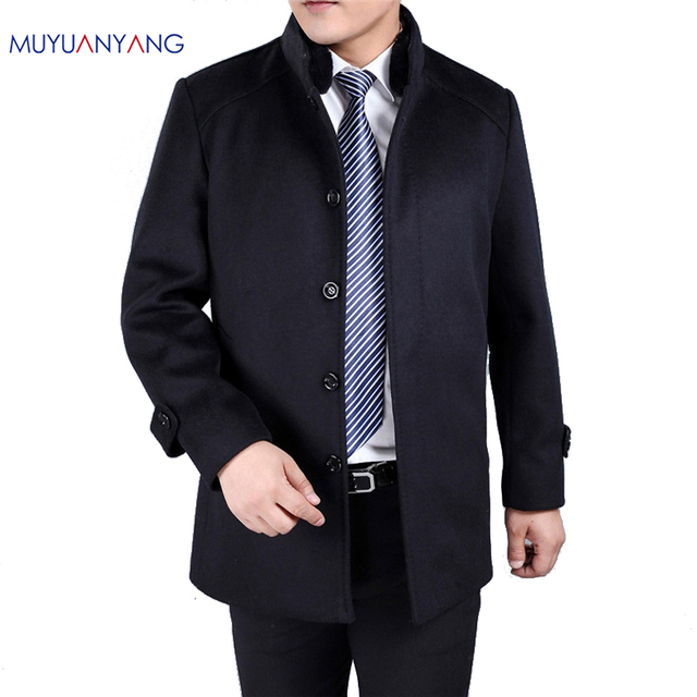 Aliexpress.com : Buy Winter Men's Wool Jackets And Coats Mens Fur ...