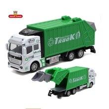 GEEK KING simulation Alloy Pull Back sanitation truck clean car model toy car toys for boys children kids garbage цена в Москве и Питере