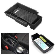 Черный автомобиль Подлокотник ящик для хранения ABS хранения лоток контейнер для Audi Q3 2012 2013 2014 2015 2016 автомобилей Организатор стайлинга автомобилей