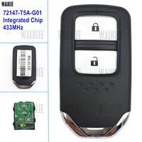 WALKLEE Smart Key Work For Honda 72147 T5A G01 For Fit City Jazz XRV Venzel HRV