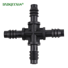10pcs New 8-9mm Cross Connector 3/8 Drip irrigation tool Widely used in home garden, atomization cooling, agricultural watering