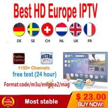 1 año árabe Francés Reino Unido Europa suscripción IPTV 1500 + canales soporte Android TV box/Android Teléfono/IPTV m3U MAG 250/engima2.0