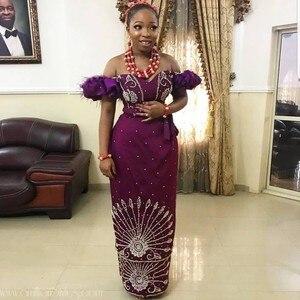 Вечернее платье в нигерийском стиле, элегантное платье с коротким рукавом и открытыми плечами, вечерние платья в африканском стиле на заказ...