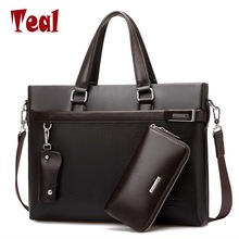 2017 Noi bărbați de moda Business Briefcase sac bărbați casual servieta de lux Designer Notebook de afaceri de sex masculin sac sac de laptop casual