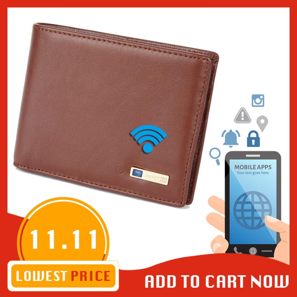 Modoker Smart Wallet Genuine Leather with alarm GPS Map, Bluetooth Alarm Men Purse, Black футболка wearcraft premium printio вендетта маска гая фокса